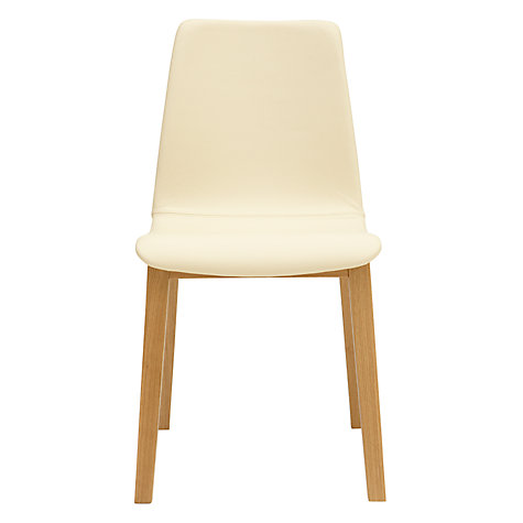 Buy Bethan Gray for John Lewis Noah Leather Upholstered Dining Chair, Cream Online at johnlewis.com