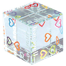Buy Spaceform Multi Hearts Cube Online at johnlewis.com