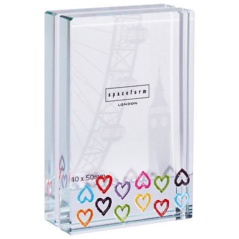 Buy Spaceform Dinky Multi Hearts Photo Frame Online at johnlewis.com