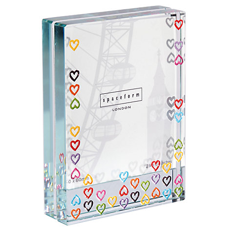 Buy Spaceform Multi Hearts Photo Frame, Small Online at johnlewis.com