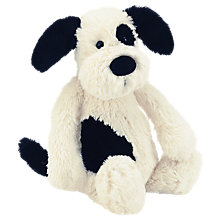 Buy Jellycat Small Bashful Puppy, Black/White Online at johnlewis.com