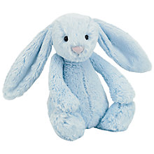 Buy Jellycat Bashful Blue Bunny Soft Toy, Medium Online at johnlewis.com