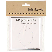 Buy John Lewis DIY Floating Star Necklace Jewellery Kit Online at johnlewis.com