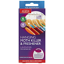 Buy Acana Hanging Moth Killer and Wardrobe Freshener, Pack of 4 Online at johnlewis.com