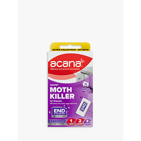 Buy Acana Sachet Moth Killer and Drawer Freshener, Pack of 24 Online at johnlewis.com