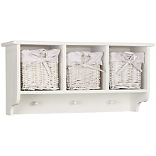 Buy John Lewis Wicker Triple Basket and Hook Storage Unit Online at johnlewis.com