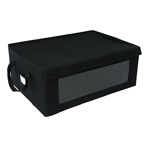 Buy John Lewis Folding Storage Box, Large, Black Online at johnlewis.com