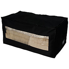 Buy John Lewis Oblong Storage Bag, Black Online at johnlewis.com