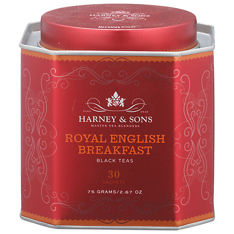 Buy Harney & Sons Historic Royal Palaces English Breakfast Tea, 30 Sachets, 75g Online at johnlewis.com