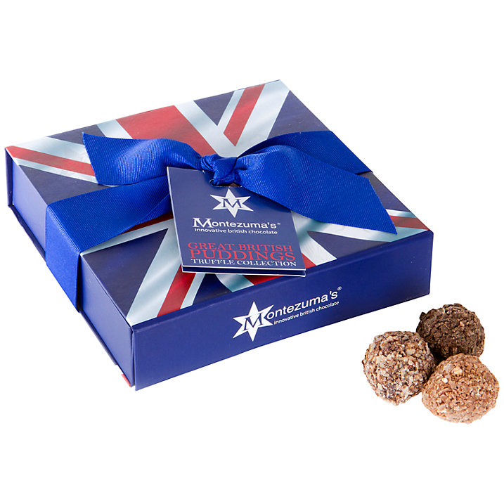 Montezuma's Truffles in a Union Jack Box, 210g (£12)