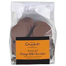 Buy Hotel Chocolat Orange & Milk chocolate Puddles, 140g Online at johnlewis.com