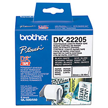 Buy Brother DK-22205 Thermal Paper Online at johnlewis.com