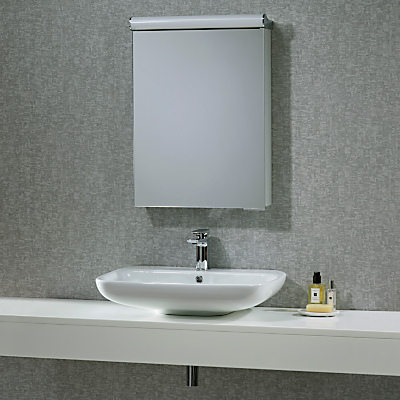 Roper Rhodes Elevate Illuminated Single Bathroom Cabinet with Double-Sided Mirror
