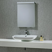 Buy John Lewis Elevate Illuminated Single Bathroom Cabinet with Double-Sided Mirror Online at johnlewis.com