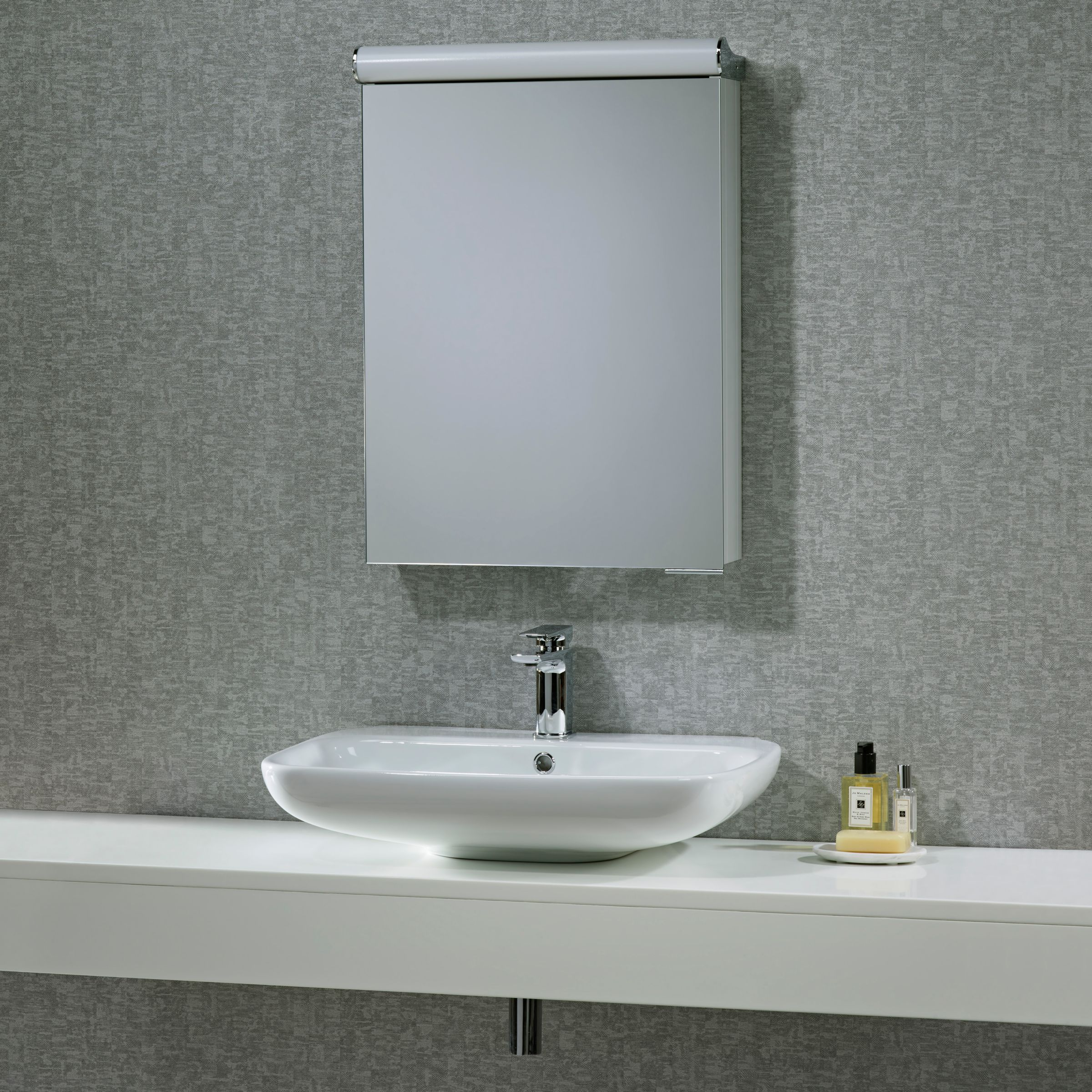 Roper Rhodes Roper Rhodes Elevate Illuminated Single Bathroom Cabinet with Double-Sided Mirror