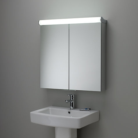 illuminated double bathroom cabinet with double sided mirror online at