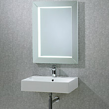 Buy John Lewis Sense Frame Illuminated Bathroom Mirror Online at johnlewis.com