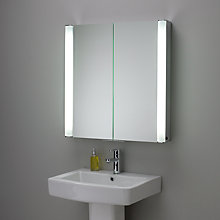 Buy John Lewis Transition Illuminated Double Bathroom Cabinet with Double-Sided Mirror Online at johnlewis.com