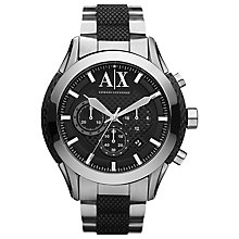Buy Armani Exchange AX1214 Men's Silver Zulu Chronograph Bracelet Watch Online at johnlewis.com