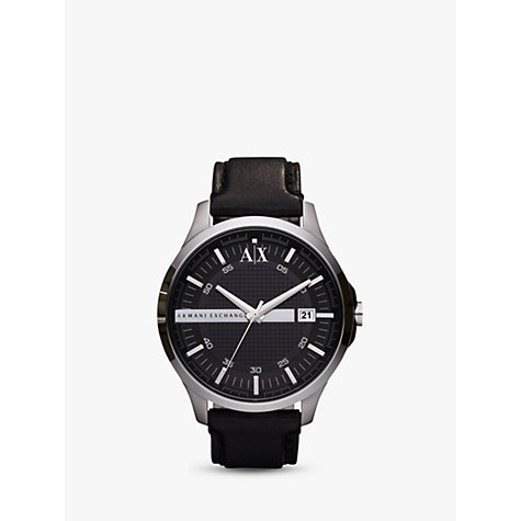 Buy Armani Exchange AX2101 Men's Whitman Leather Strap Watch Online at johnlewis.com