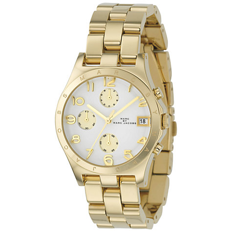 Buy Marc by Marc Jacobs MBM3039 Women's Henry Round Dial Chronograph Bracelet Watch, Gold Online at johnlewis.com