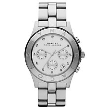 Buy Marc by Marc Jacobs MBM3100 Women's Blade Round Dial Chronograph Bracelet Watch, Silver Online at johnlewis.com