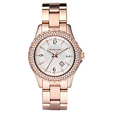 Buy Michael Kors MK5403 Women's Diamante Bezel Bracelet Strap Watch, Rose Gold Online at johnlewis.com