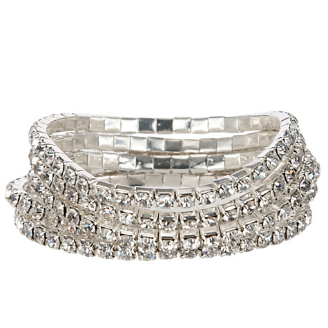 Buy John Lewis Multi Layer Diamanté Sparkle Bracelet, Silver Online at johnlewis.com