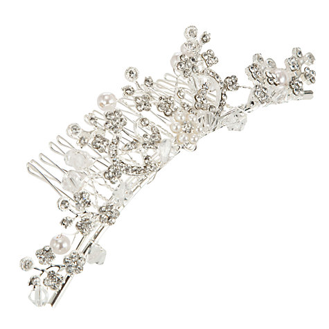 Buy John Lewis Pearl Diamanté Hair Comb Online at johnlewis.com