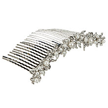 Buy John Lewis Row of Pearls Hair Comb, Silver/White Online at johnlewis.com