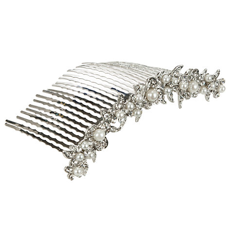 Buy John Lewis Row Of Pearls Hair Comb Online at johnlewis.com