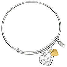 Buy Chambers & Beau Personalised Heart Expandable Bracelet Online at johnlewis.com