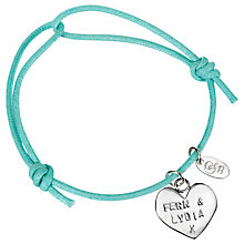 Buy Chambers & Beau Personalised Heart Friendship Bracelet Online at johnlewis.com