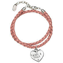 Buy Chambers & Beau Personalised Braided Leather Bracelet Online at johnlewis.com