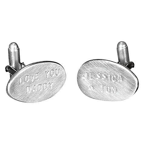 Buy Chambers & Beau Personalised Oval Cufflinks Online at johnlewis.com