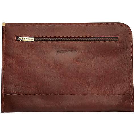 Buy Smith & Canova Men's Leather Folio, Brown Online at johnlewis.com