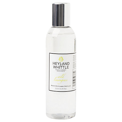 Buy Heyland & Whittle Wild Lemongrass Diffuser Refill, 200ml Online at johnlewis.com