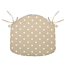 Buy John Lewis Dotty Seat Pad Online at johnlewis.com