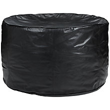 Buy John Lewis Leather Sprawl Beanbag, Black Online at johnlewis.com