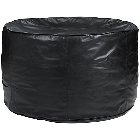Buy John Lewis Leather Sprawl Bean Bag, Black Online at johnlewis.com