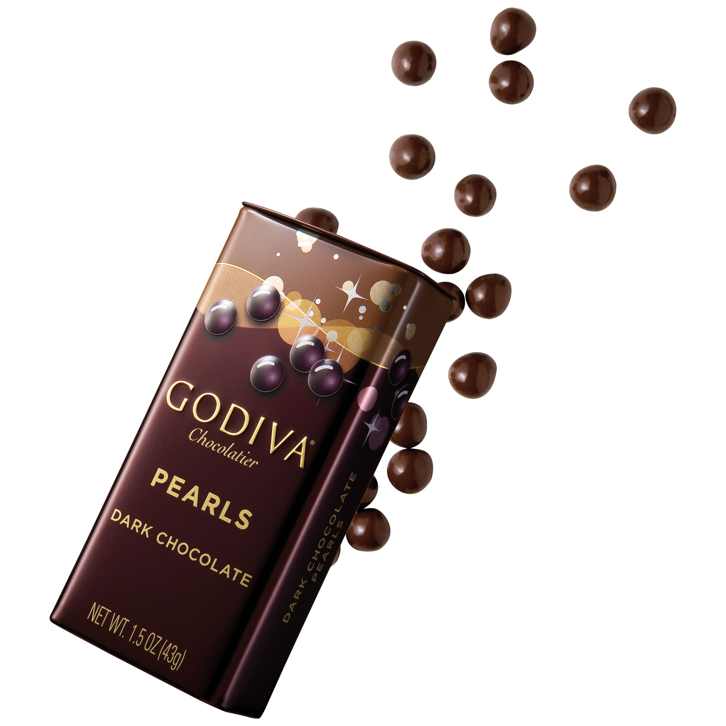 Godiva Godiva Dark Chocolate Pearls In A Tin, 43g