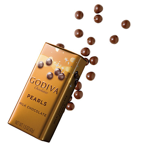 Buy Godiva Milk Chocolate Pearls In a Tin, 40g Online at johnlewis.com