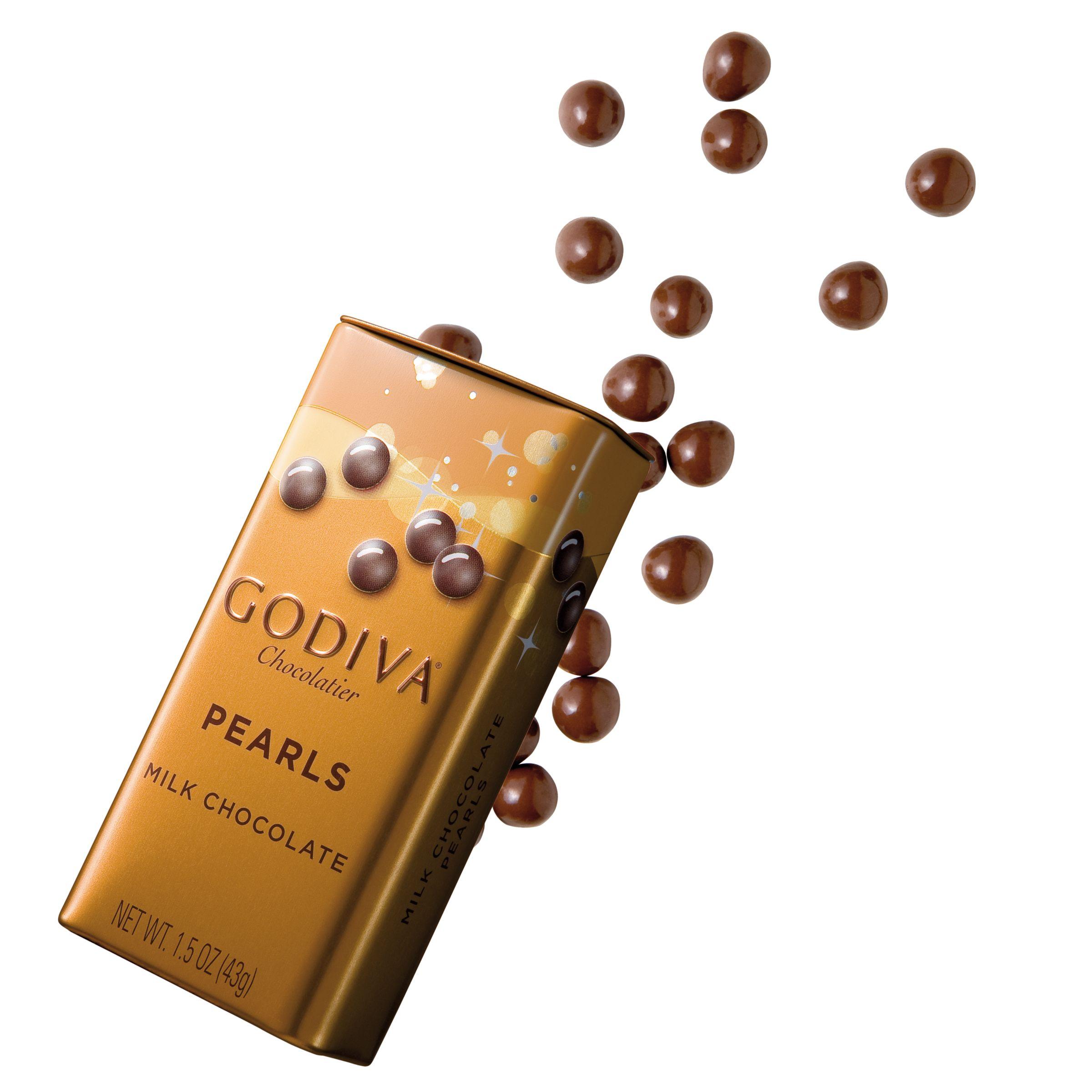 Godiva Godiva Milk Chocolate Pearls In a Tin, 40g