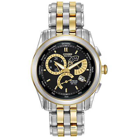 Buy Citizen Eco Drive BL8004-53E Men's Calibre 8700 Perpetual Calendar Watch, Gold/Silver Online at johnlewis.com