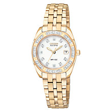 Buy Citizen Eco-Drive EW1593-58A Women's Paladion Bracelet Watch, Gold Online at johnlewis.com