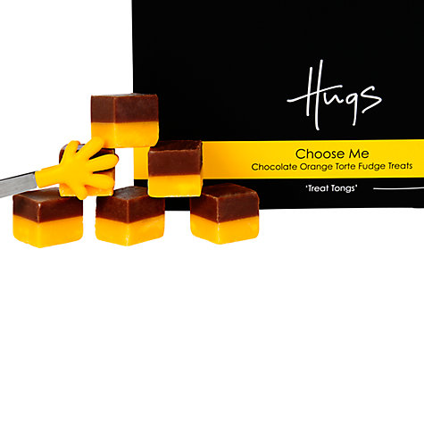 Buy Hugs Chocolate Orange Fudge With Tongs, 225g Online at johnlewis.com