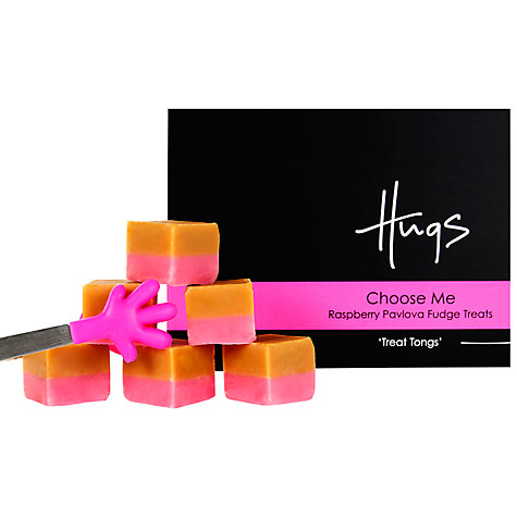 Buy Hugs Raspberry Pavlova Fudge With Tongs, 225g Online at johnlewis.com