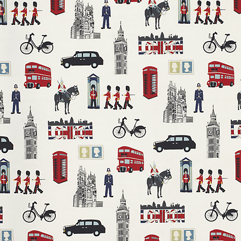 Buy John Lewis London City Life PVC Tablecloth Fabric, Multi Online at johnlewis.com