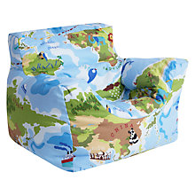 Buy little home at John Lewis Children's Maps Bean Chair, Multi Online at johnlewis.com