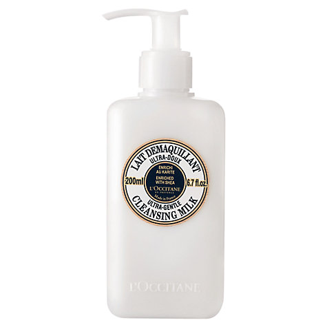 Buy L'Occitane Shea Cleansing Milk, 200ml Online at johnlewis.com